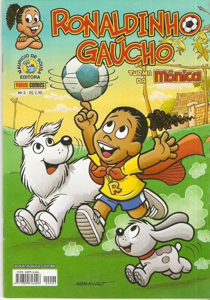RONALDINHO GAUCHO,PANINI002-20130809TURMA DA MÔNICA