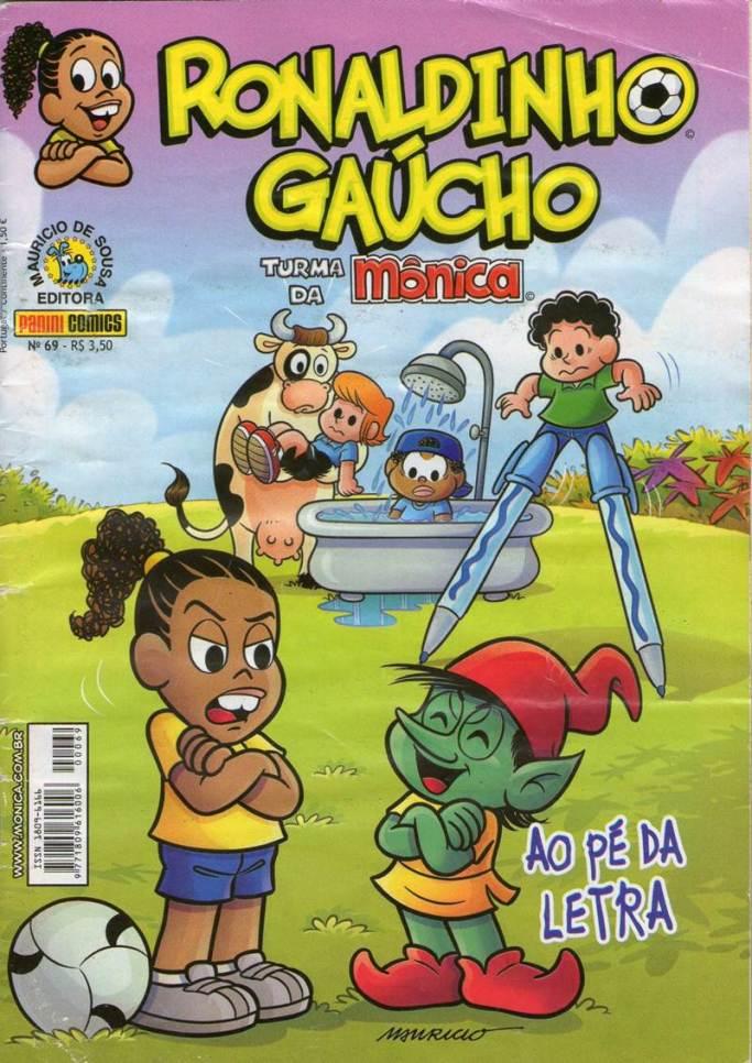 RONALDINHO GAUCHO,PANINI054-20130809TURMA DA MÔNICA